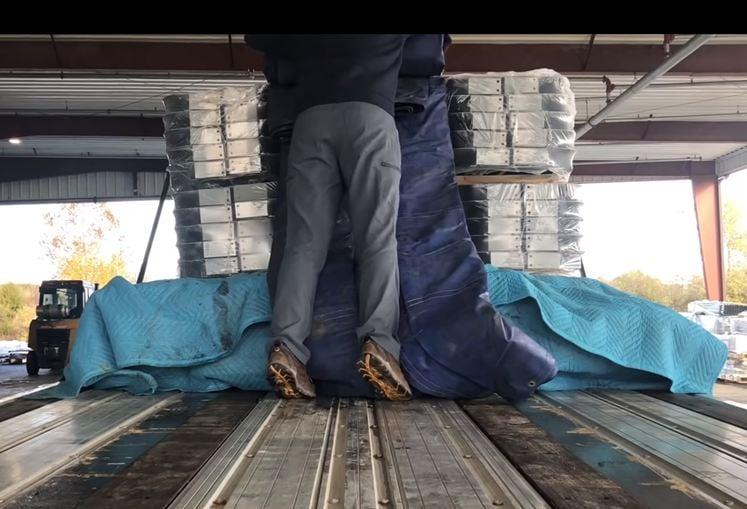 3. Load on flatbed