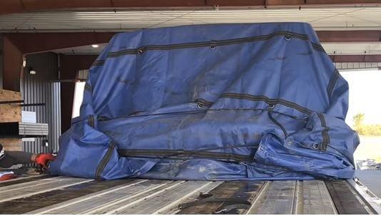8. Flatbed truck tarps