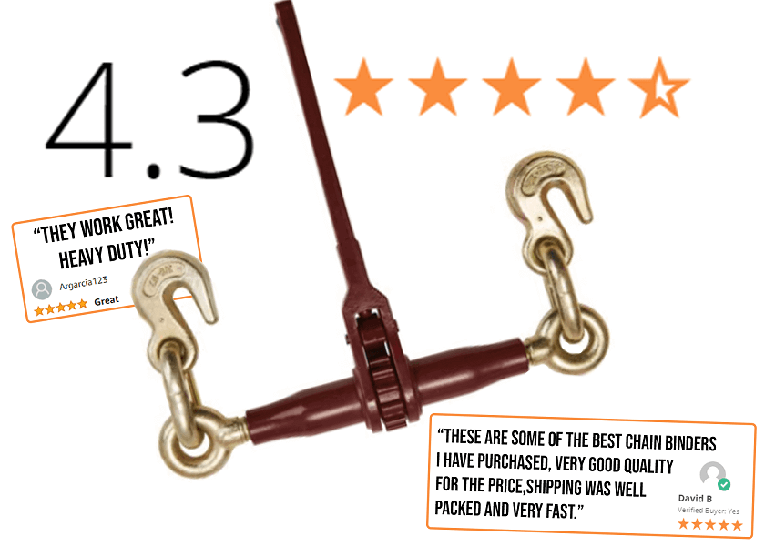 Pro Ratchet Chain Binder with Grab Hooks