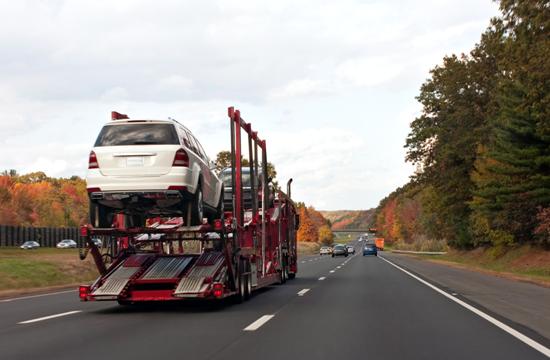 Auto Haulers on Road
