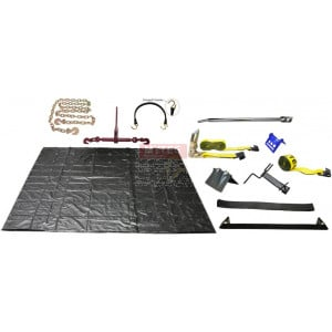 Steel Hauler Kit Tarp Straps Bungees Flatbed Trailer