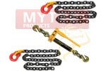Front Axle Tie Down Kit Chain with Omega Link G80 Wrecker Tow Truck