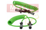7-Way ABS Coil 15' (Green) Leads (Trailer x Tractor)