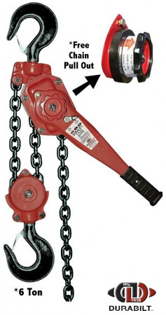 Durabilt Lever Hoists 6 Ton Rated Capacity 10ft Standard Lift