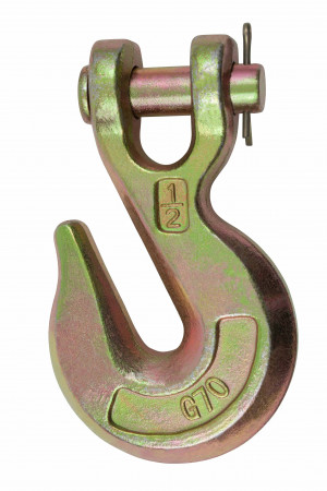 """1/2"""" Grade 70 Clevis Grab Hooks with Pins"""