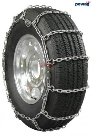 """pewag Square Link Tire Chain - Single For 24.5"""" tires (Set of 2)"""