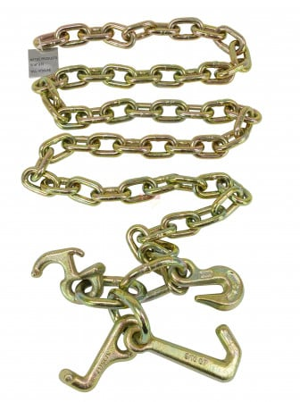 "5/16"" x 6' G70 Tow Chain w/ RTJ & Grab Hook w/ Enlarged Links - Plain on One End"
