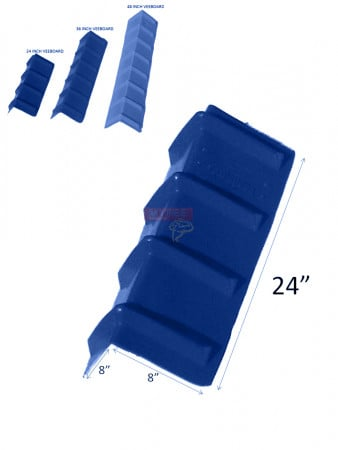 Corner Protector Veeboard Style - 24 Inches Blue
