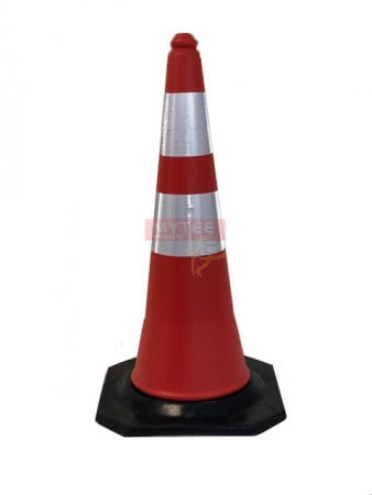"""Traffic Safety Cone 28"""" w/ Reflective Tape (Stackable)"""