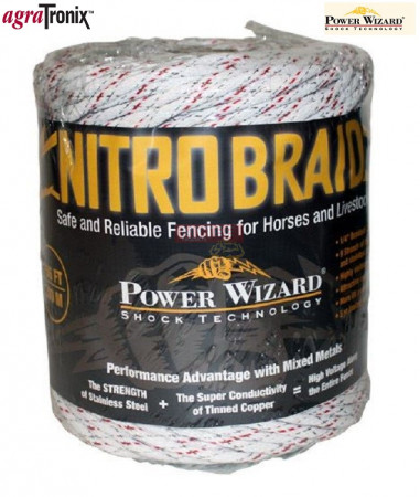 Nitro Braid 1/4 Inch 9-Strand with Red Tracer 656 Ft