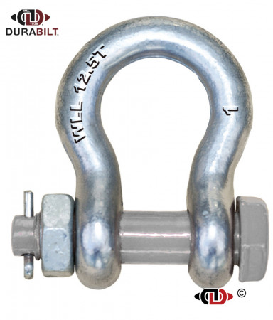 Anchor or Bow Type Shackle Made with Forged Alloy Steel & Alloy Bolt 12.5T WLL