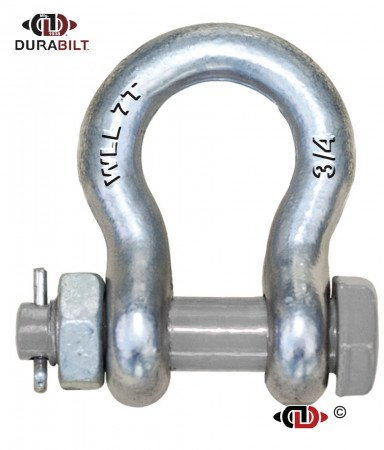 Anchor or Bow Type Shackle Made with Forged Alloy Steel & Alloy Bolt 7T WLL