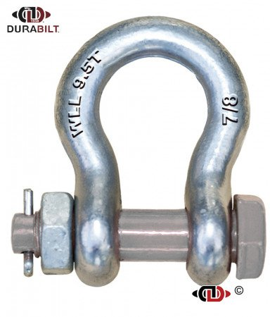 Anchor or Bow Type Shackle Made with Forged Alloy Steel & Alloy Bolt 9.5T WLL