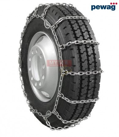 "pewag Square Link Tire Chain - Single For 22.5"" tires (Set of 2)"