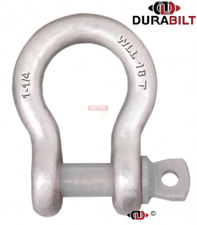 Anchor or Bow Type Shackle Made with Forged Alloy Steel & Alloy Screw Pin 18T WLL