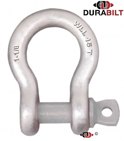 Anchor or Bow Type Shackle Made with Forged Alloy Steel & Alloy Screw Pin 15T WLL