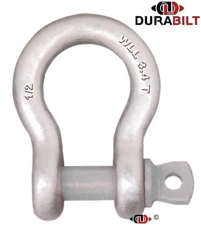 Anchor or Bow Type Shackle Made with Forged Alloy Steel & Alloy Screw Pin 3.4T WLL