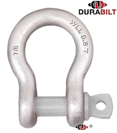 Anchor or Bow Type Shackle Made with Forged Alloy Steel & Alloy Screw Pin 9.5T WLL