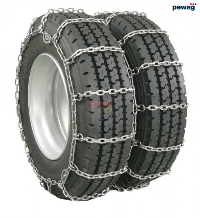 """pewag Square Link Tire Chain - Double For 24.5"""" tires (Set of 2)"""
