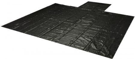 Heavy Duty 18oz Lumber Tarp 20x27 (6' Drop) - Black