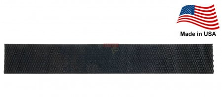 """Heavy Duty Rubber Coil Pad 7"""" x 48"""" Diamond Pattern - Made in USA"""