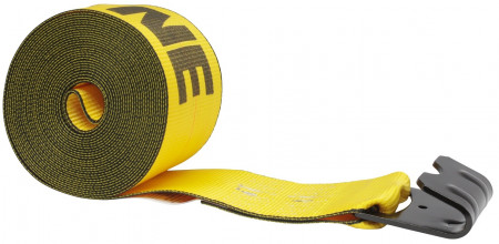 """4"""" x 40' Winch Strap with Flat Hook - Kinedyne, Gold"""