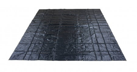 Heavy Duty 18oz Steel Tarp 16' x 27' - Black (Stainless Steel D-Rings)