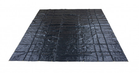 Heavy Duty 18oz Steel Tarp 16' x 20' - Black