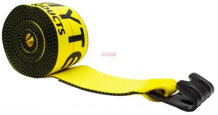 "4"" x 30' Winch Straps w/ Flat Hook eXtreme, 6,670 Lbs WLL"