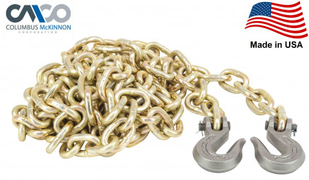 """Transport Chains G70 NACM Long Link (3/8"""" x 25') Made in USA"""