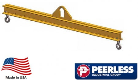 Standard Duty Lifting Beam 1 Ton Capacity, 12 Ft Outside Spread