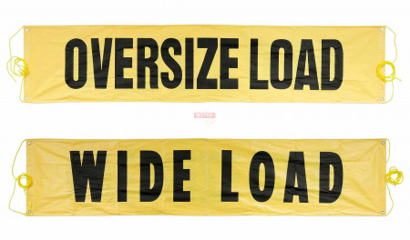 "Reversible Wide Load/Oversize Load 18"" x 84"""
