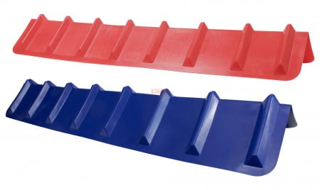 "Corner Protector V Shaped - 8"" x 8"" x 48"" (Red or Blue)"