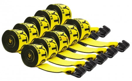 """(10 Pack) 4"""" x 30' Winch Straps w/ Flat Hook eXtreme, 6,670 Lbs WLL"""