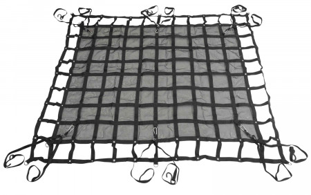 "Cargo Net 57"" x 72"" w/ D Rings and S-Hook Ratchets"