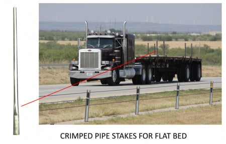 Steel Pipe Stakes for Flatbed 4ft