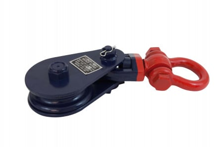 """Snatch Block with Shackle WLL 8 Ton (3/4"""" Wire x 6"""" Sheave)"""