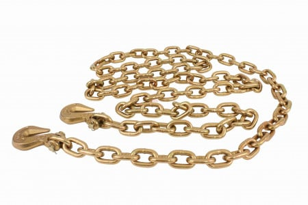 """3/8"""" X 16' G70 Chain with grab hooks, WLL 6,600 lbs"""