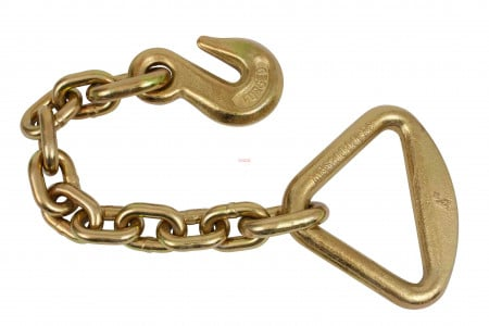 "3/8"" Grab Hook w/ 18"" Chain Anchor 4"" Delta Ring"
