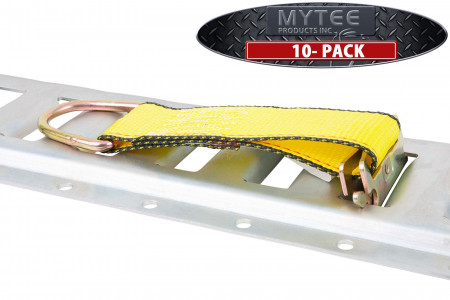 """(10 Pack) E-Track Rope Tie-Offs 6"""" Yellow Cargo Tie-Downs WLL# 2000 Lbs"""