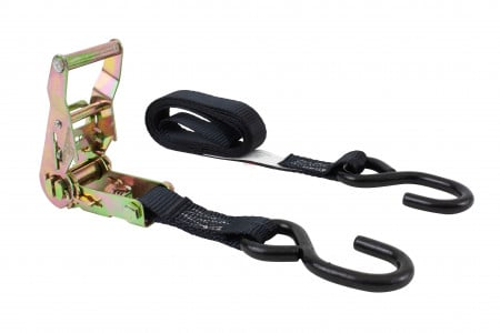 """1"""" x 6' Ratchet Straps with S-Hook Motorcycle Tie Down"""