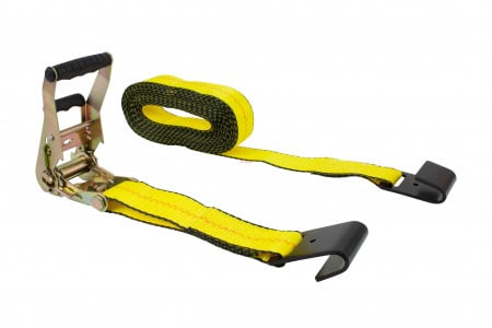 "2"" x 30' Ratchet Strap w/ Flat Hook and EZ Grip Rubber Handle"