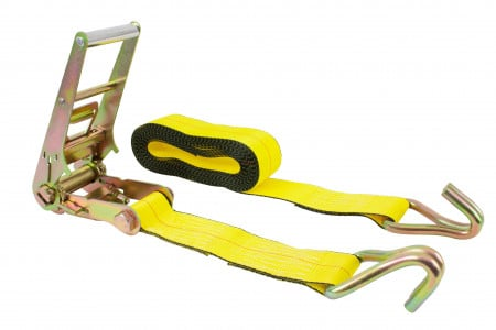"3"" x 30' Yellow Ratchet Tie-Down Straps w/ Wire Hook 15000 Lbs Capacity"