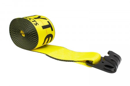 """4"""" Winch Strap with 3.25"""" Wide Flat Hook"""