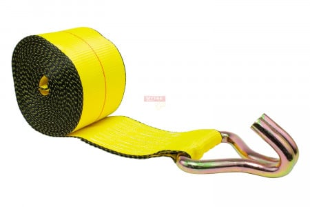"4"" x 30' Winch Strap with Wire Hook"