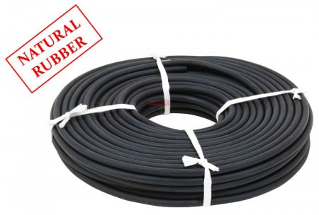 """3/8"""" x 150' Natural Rubber Rope - Solid Core Rubber Bungee Cord"""