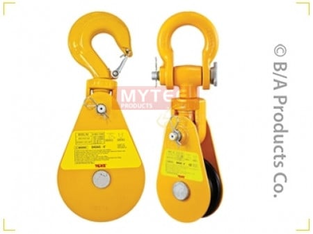 Yoke Alloy Snatch Block w/ Swivel Hook & Latch