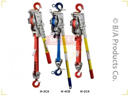 Lug-All Web Strap Ratchet Winch Hoists