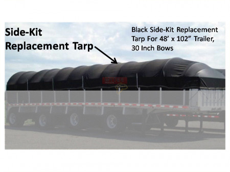 "Replacement Tarp For 48' Side Kit (30"" Bows Only)"