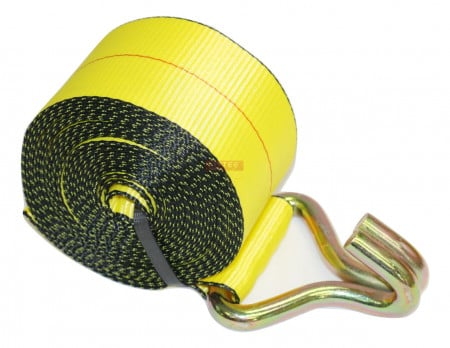 "3"" x 30' Winch Strap with Wire Hook"